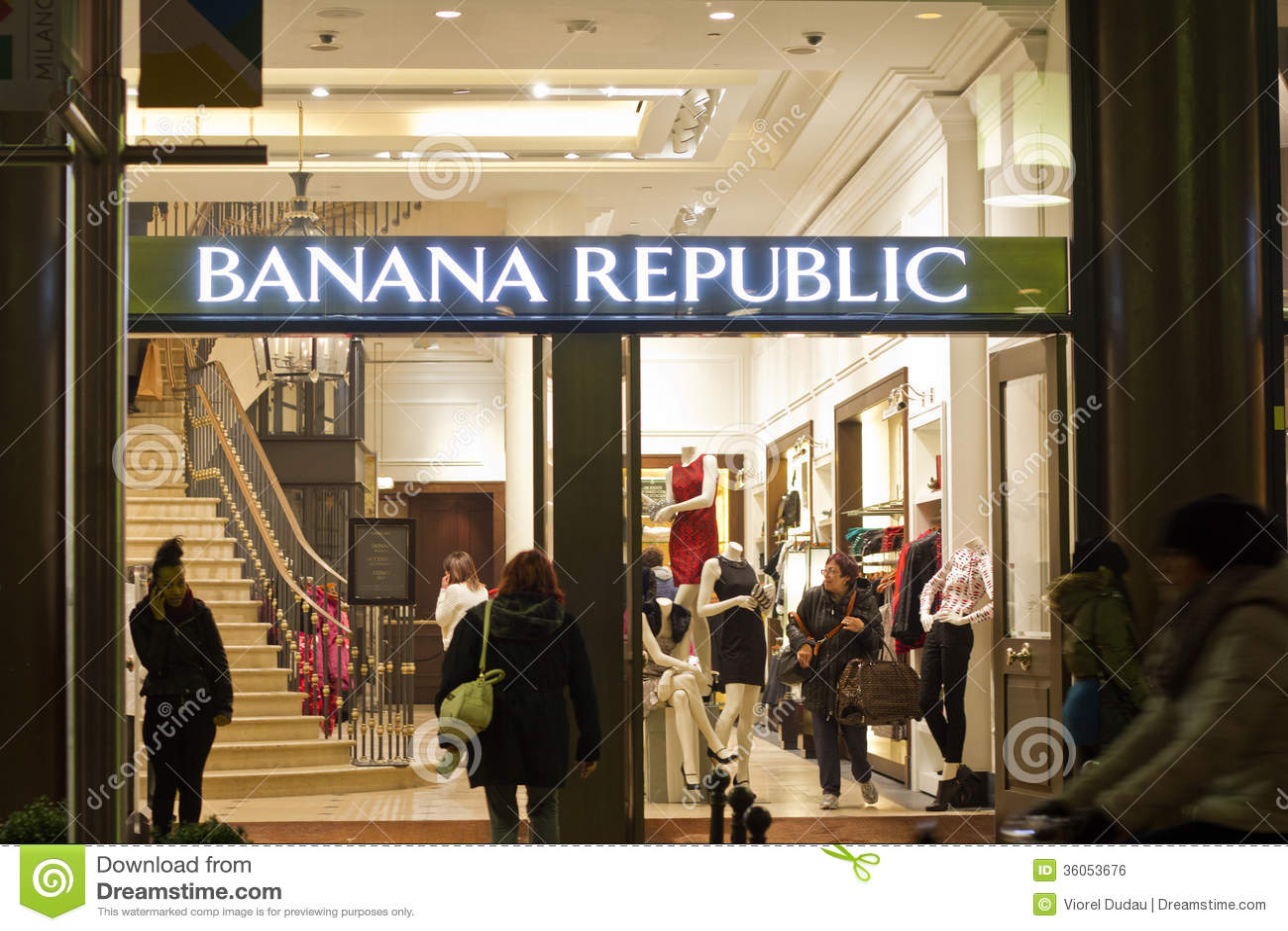 banana republic shop editorial photo image of boutique