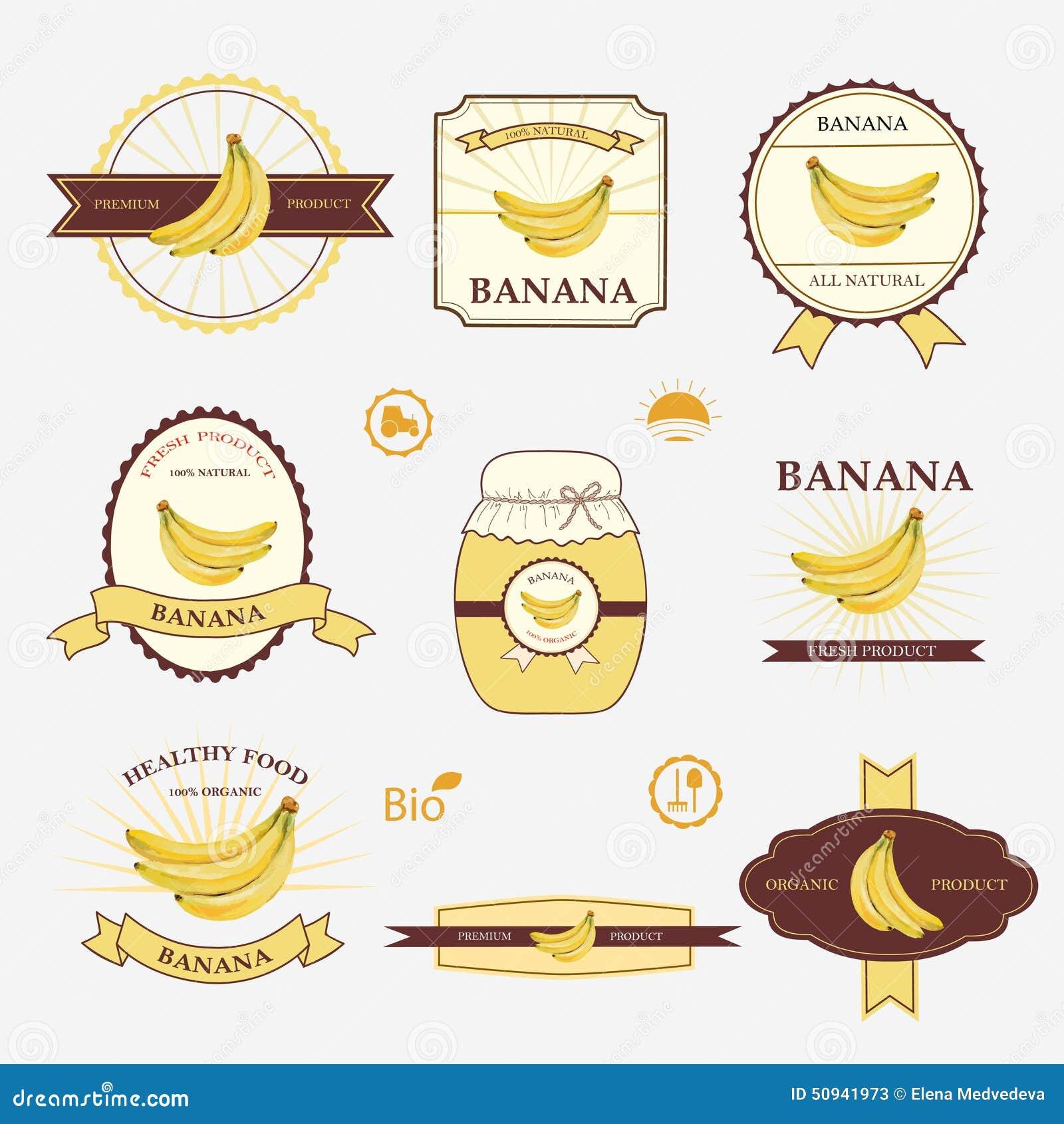 banana  set of label design stock vector image 50941973 banana clip art png image banana clip art