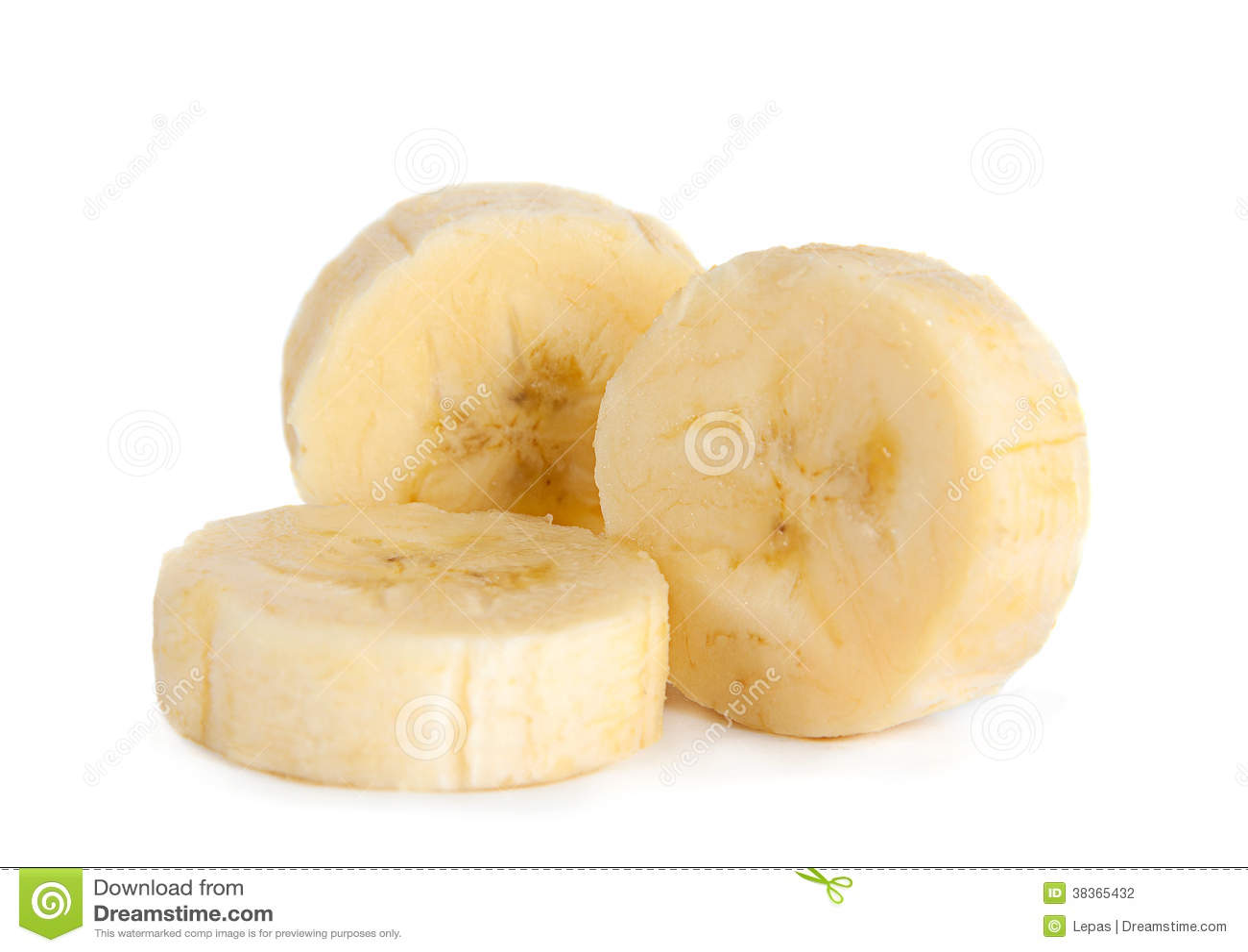 Banana Slice Closeup Stock Photography - Image: 38365432