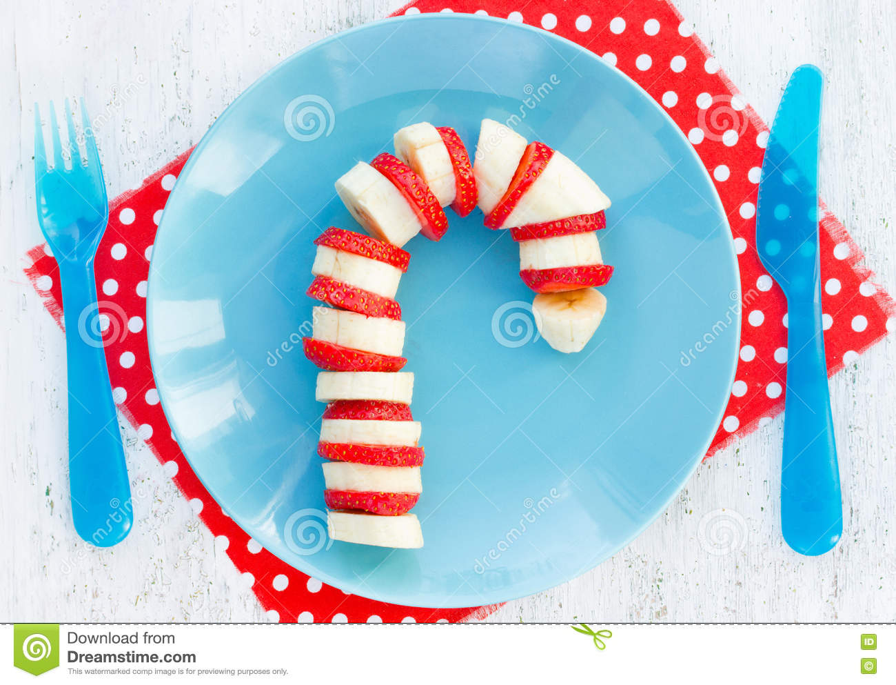 Banana Strawberry Candy Cane - Funny And Healthy Christmas Break ...