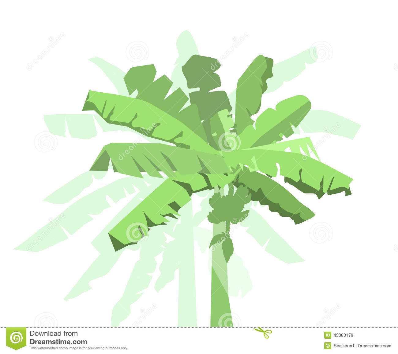 banana tree leaves vector - photo #22