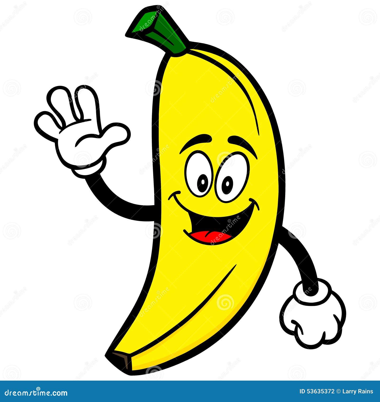 Banana Waving stock vector. Image of plant, vector ...