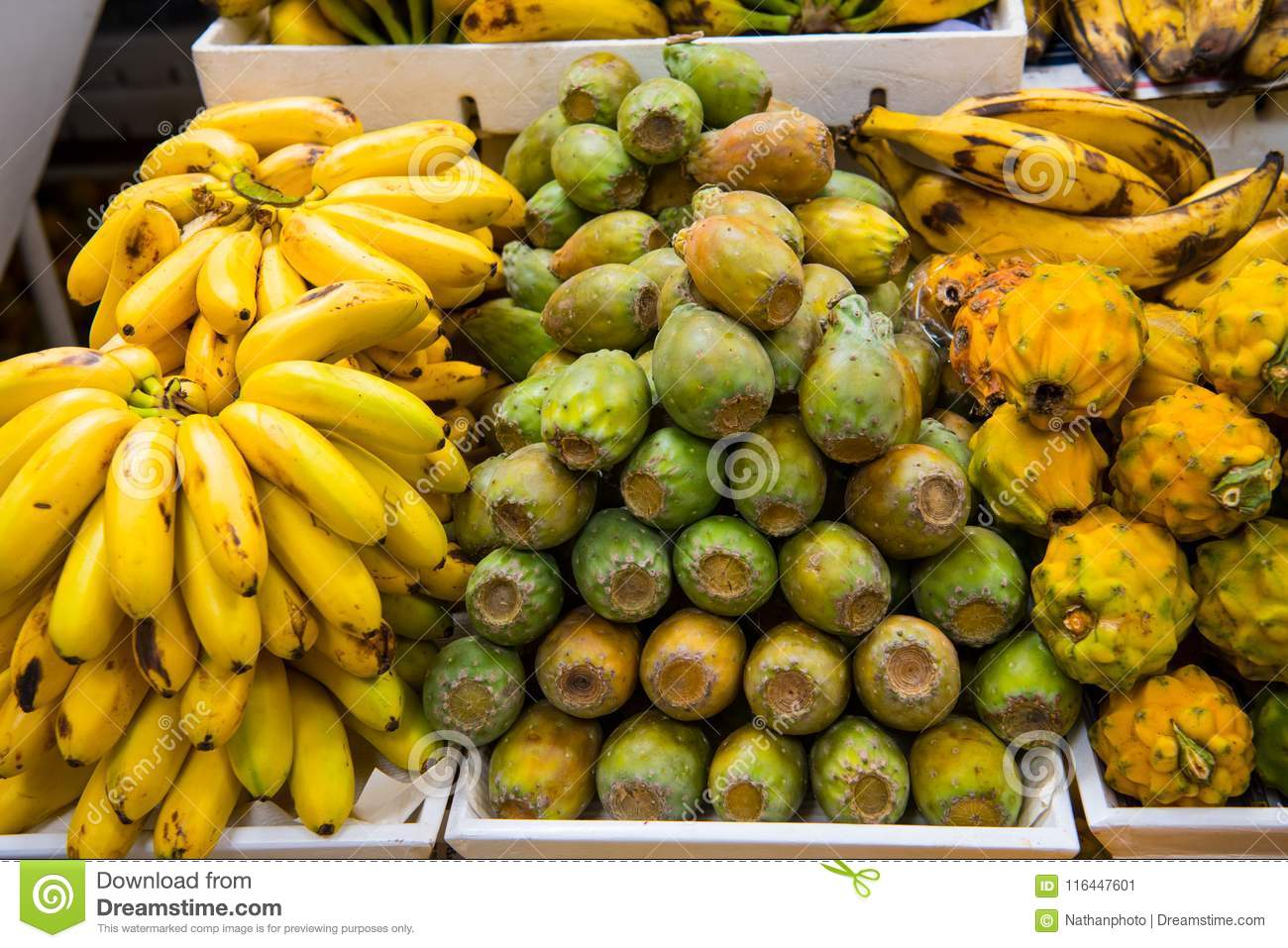 Bananas, Dragon Fruit, Cactus Fruit, For Sale In South