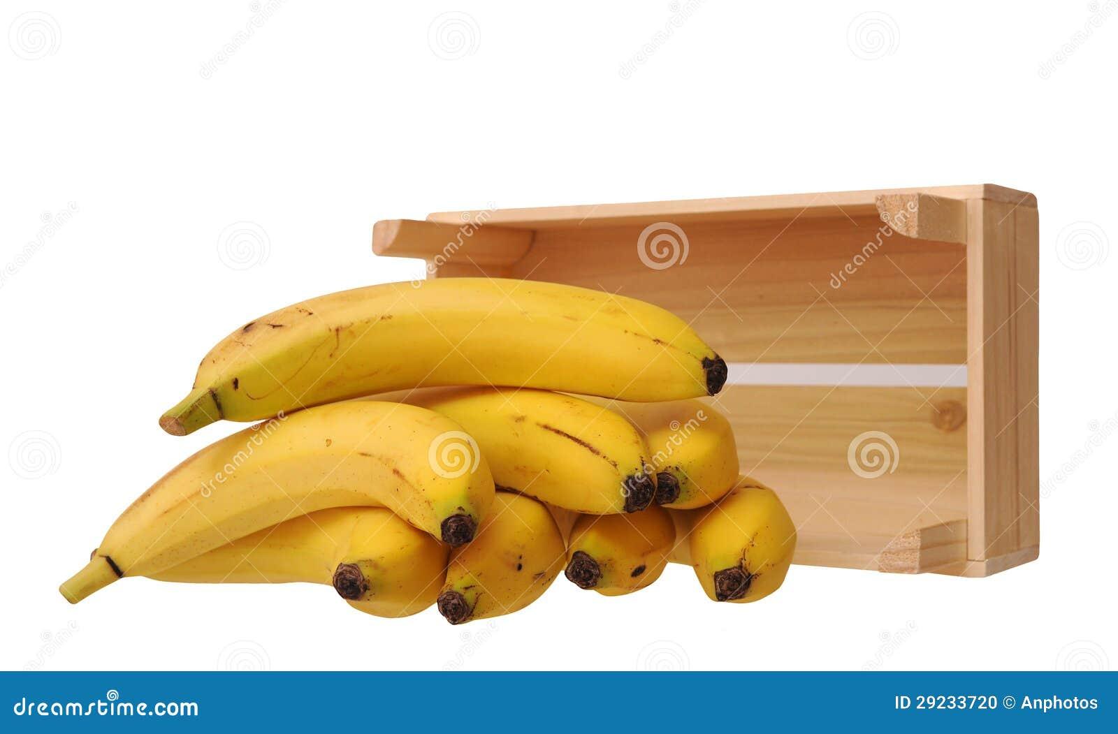 Download Bananas E Caixa Maduras Mim Foto de Stock - Imagem de amarelo, grupo: 29233720