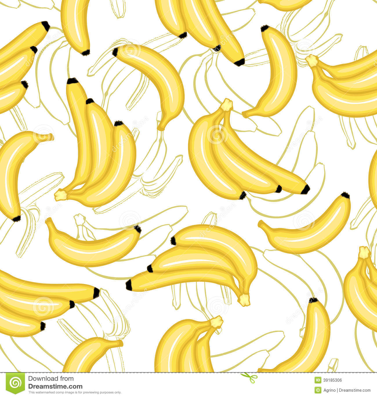 Bananas Fruit Pattern Seamless Stock Vector - Image: 39185306