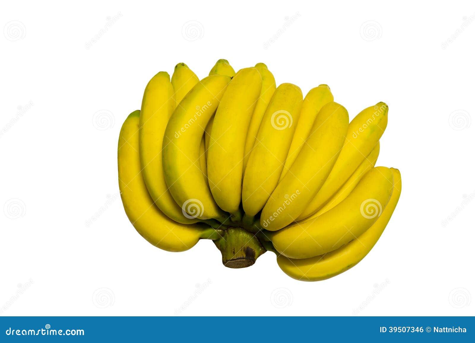 Bananas isolated on white