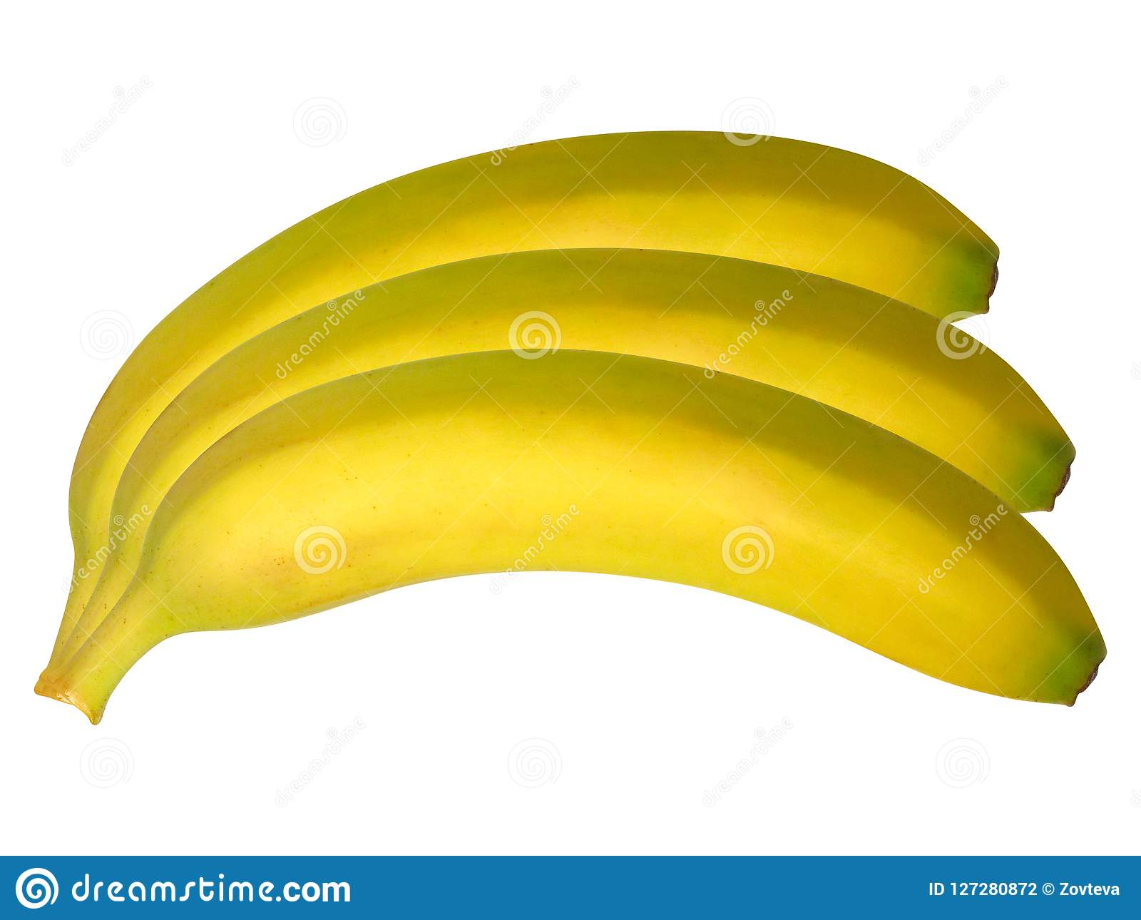 Bananas isolated on the white