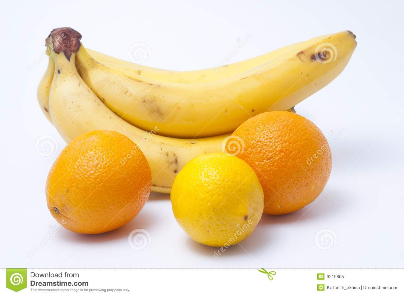 Bananas A Lemon And Two Oranges Stock Image - Image of ...