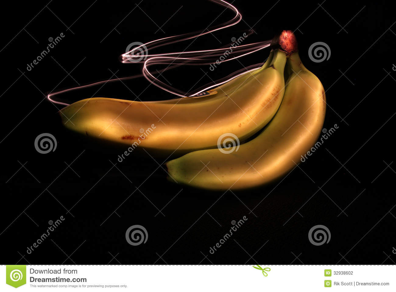 Bananas And Light 1 Stock Photography Image 32938602