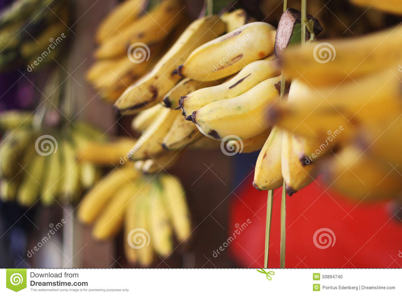 Bananas in the market