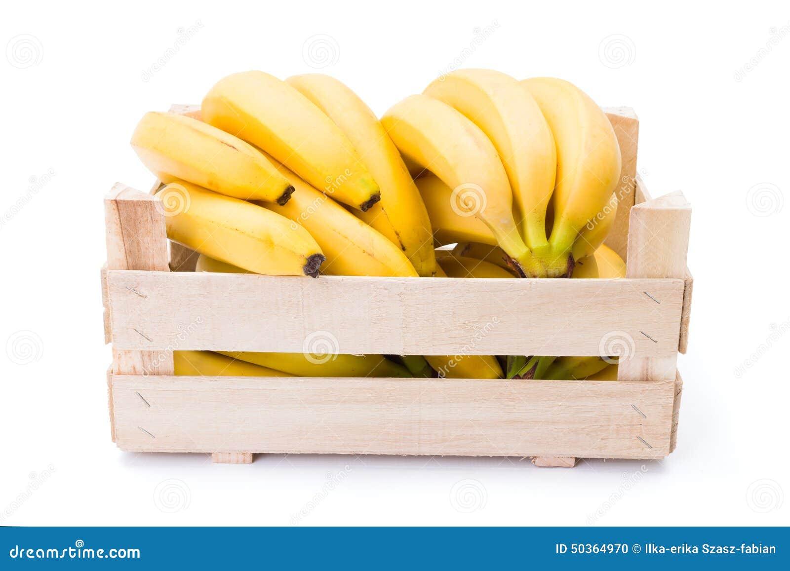 Bananas Na Caixa De Madeira Foto de Stock Imagem: 50364970 #C49307 1300x957