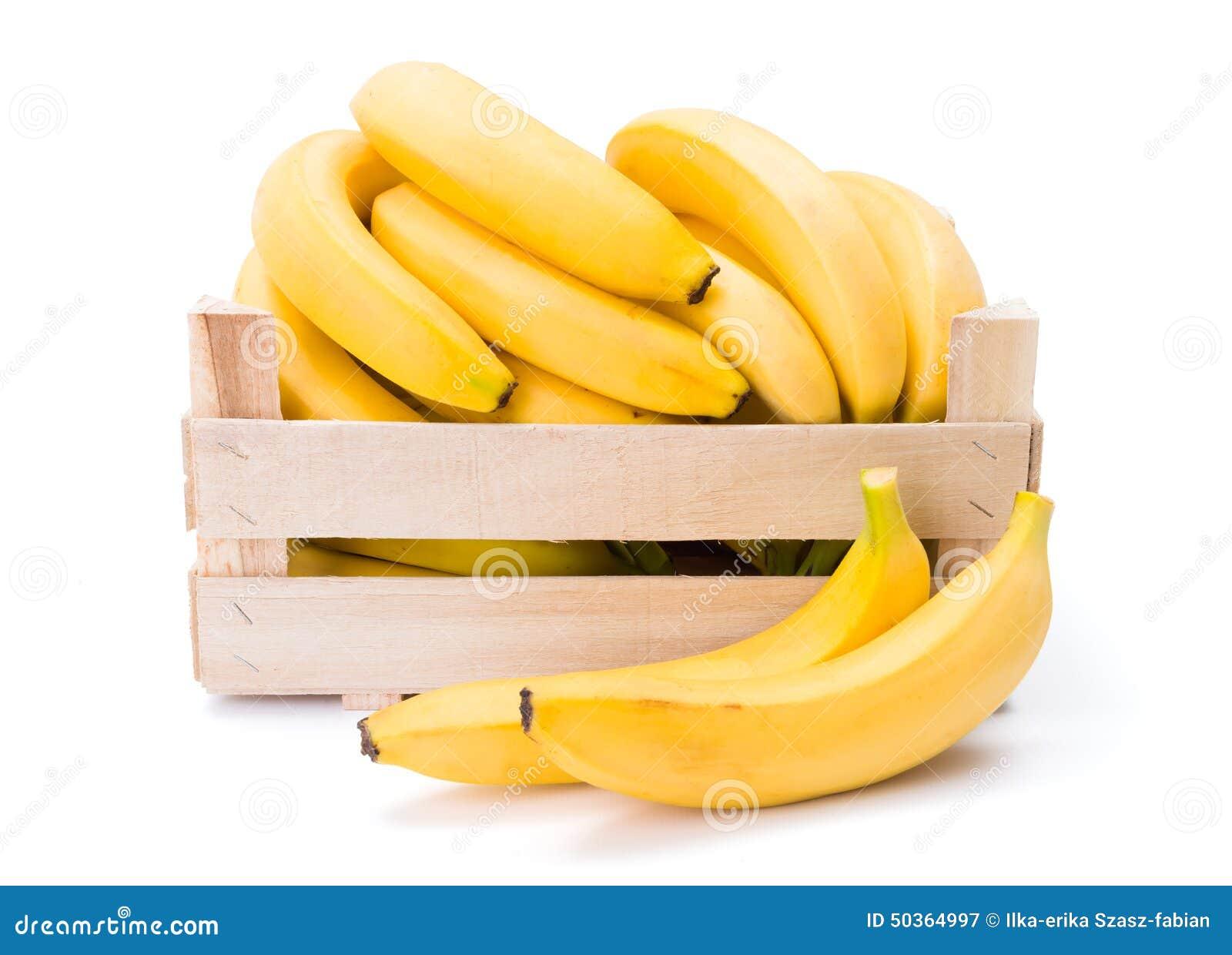 Bananas Na Caixa De Madeira Foto de Stock Imagem: 50364997 #C89203 1300x1024