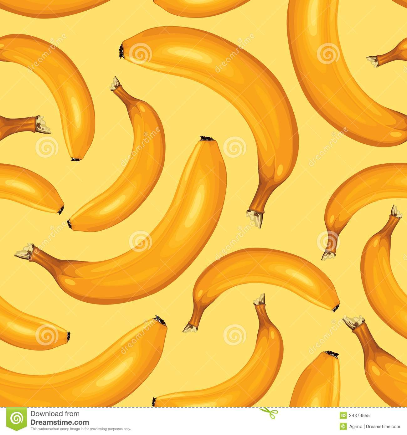 Bananas Seamless Pattern Royalty Free Stock Photo - Image: 34374555