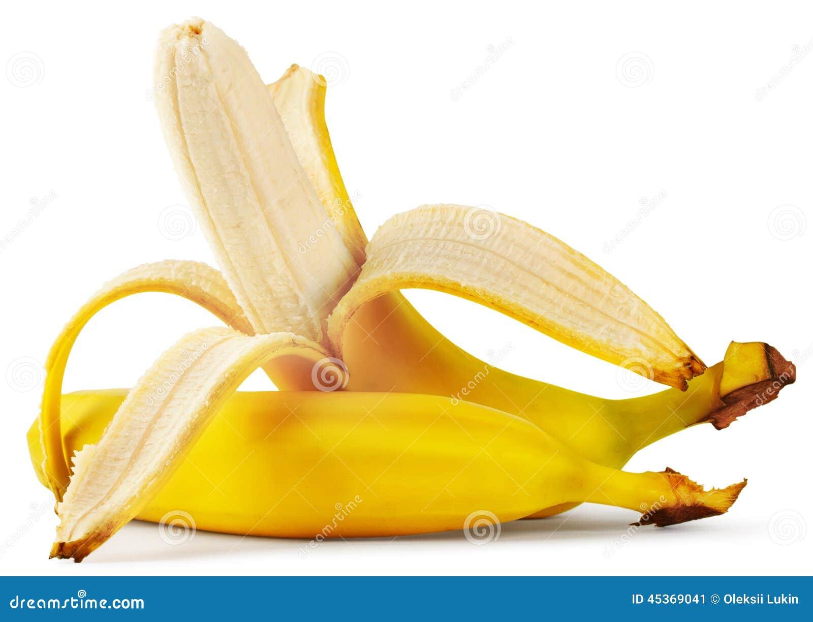 Banane épluchée mûre