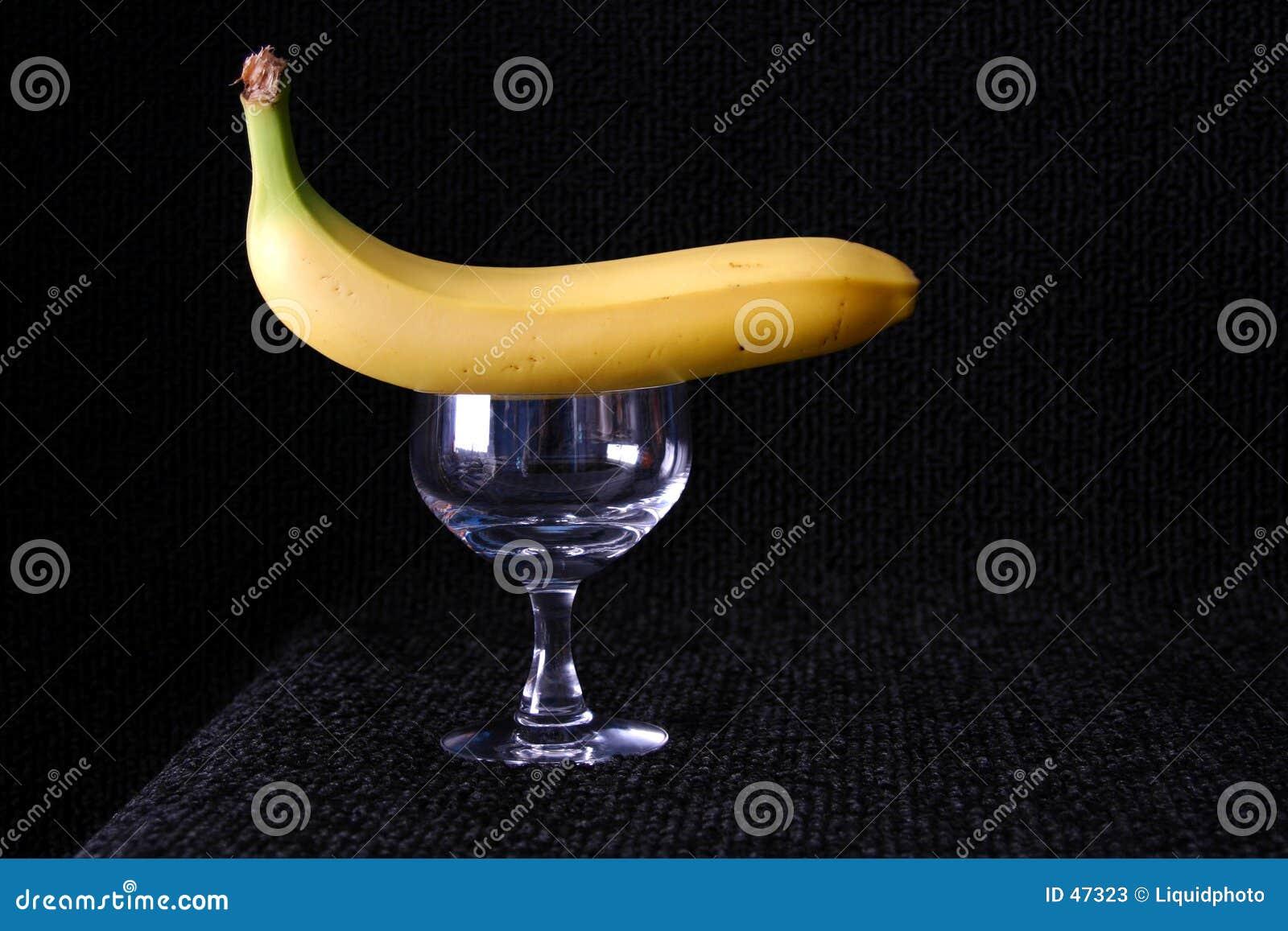 Banane auf die Oberseite