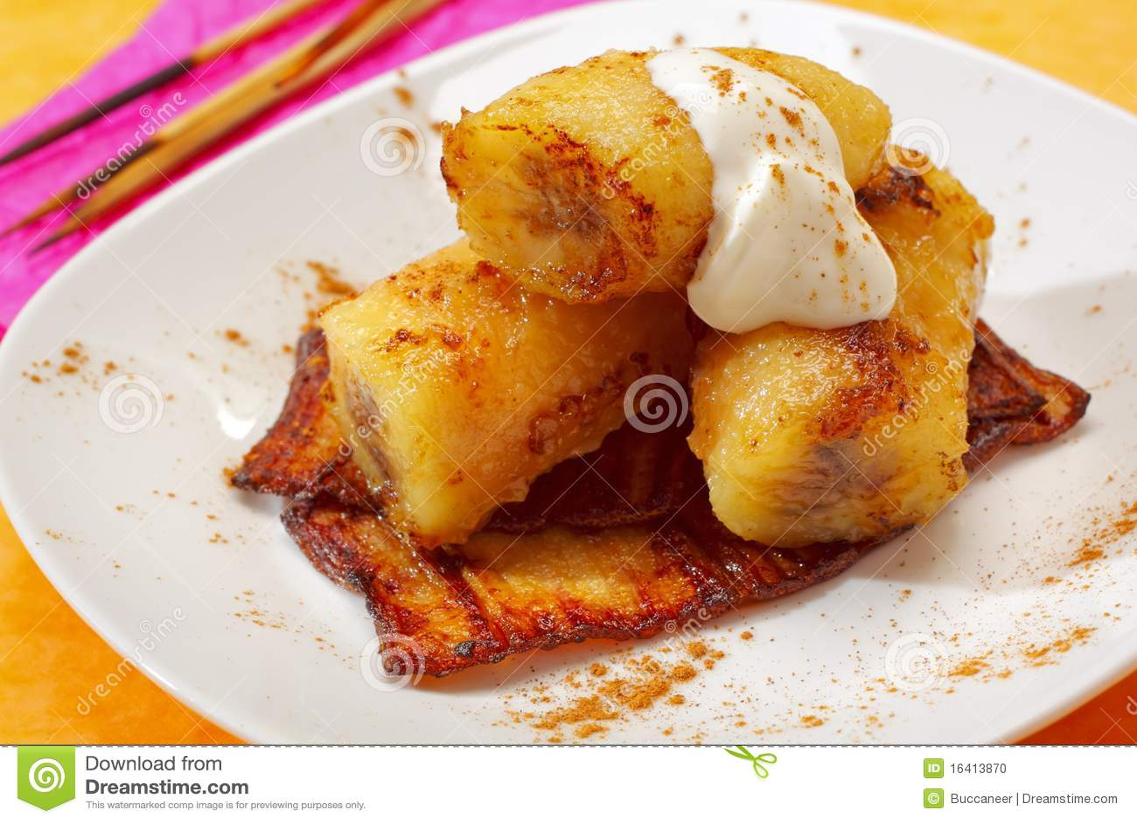 Banane caramellate cotte