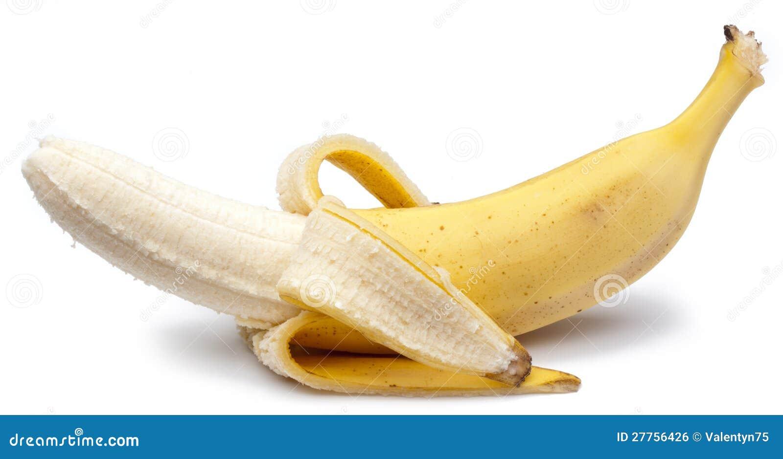 Banane d isolement sur le blanc