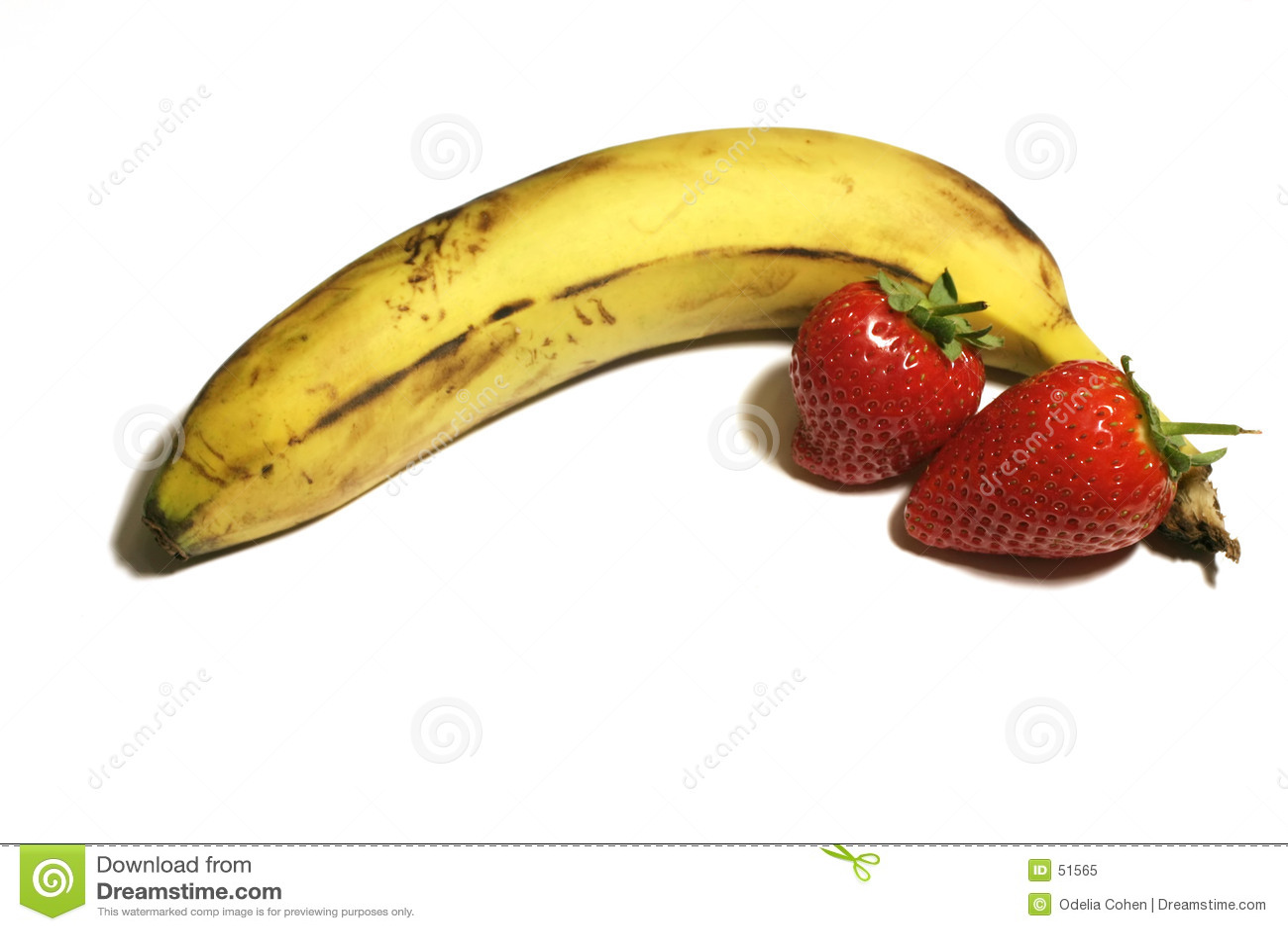 Banane et fraises