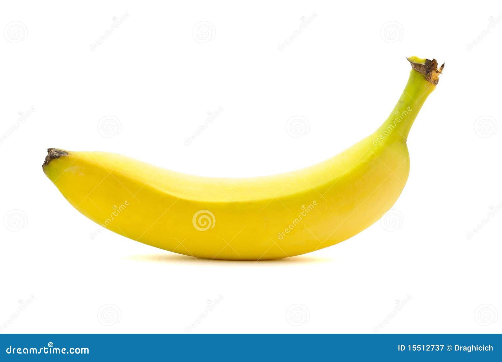 Banane sur le fond blanc