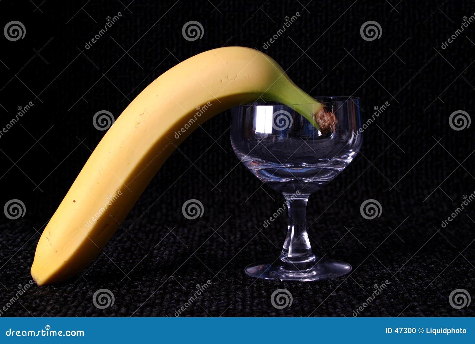 Banane und Glas