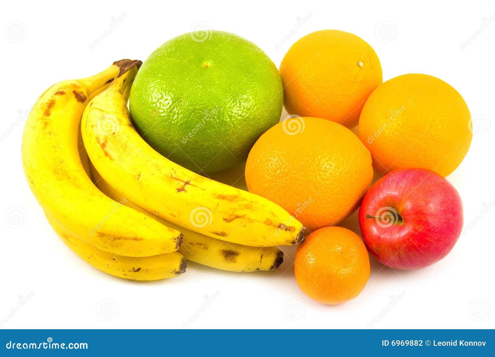 Bananes mandarine et pomme d 39 oranges photographie stock - Pure de castanas y manzana ...