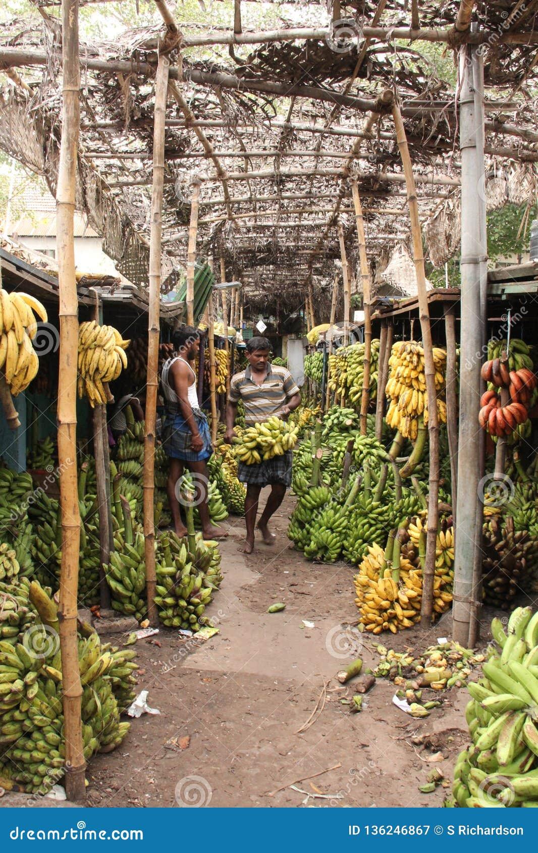 Bananmarknad av Madurai