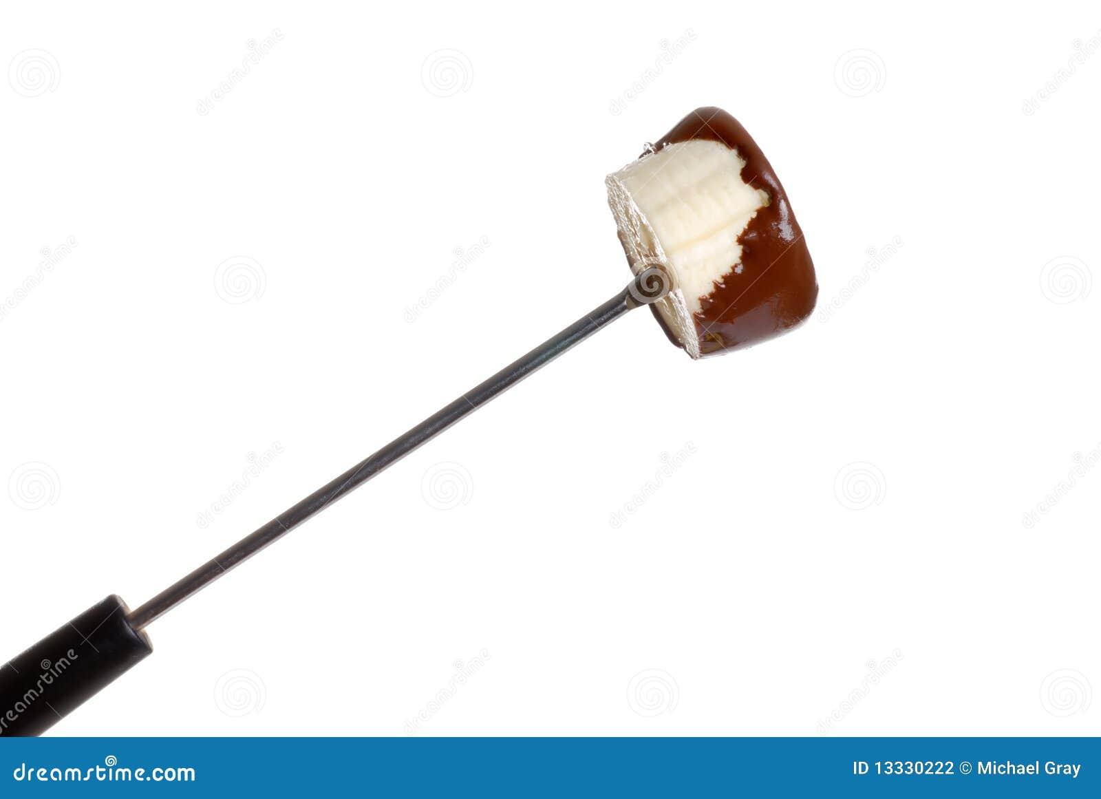 Bananowa czekolada zakrywający fondue kij