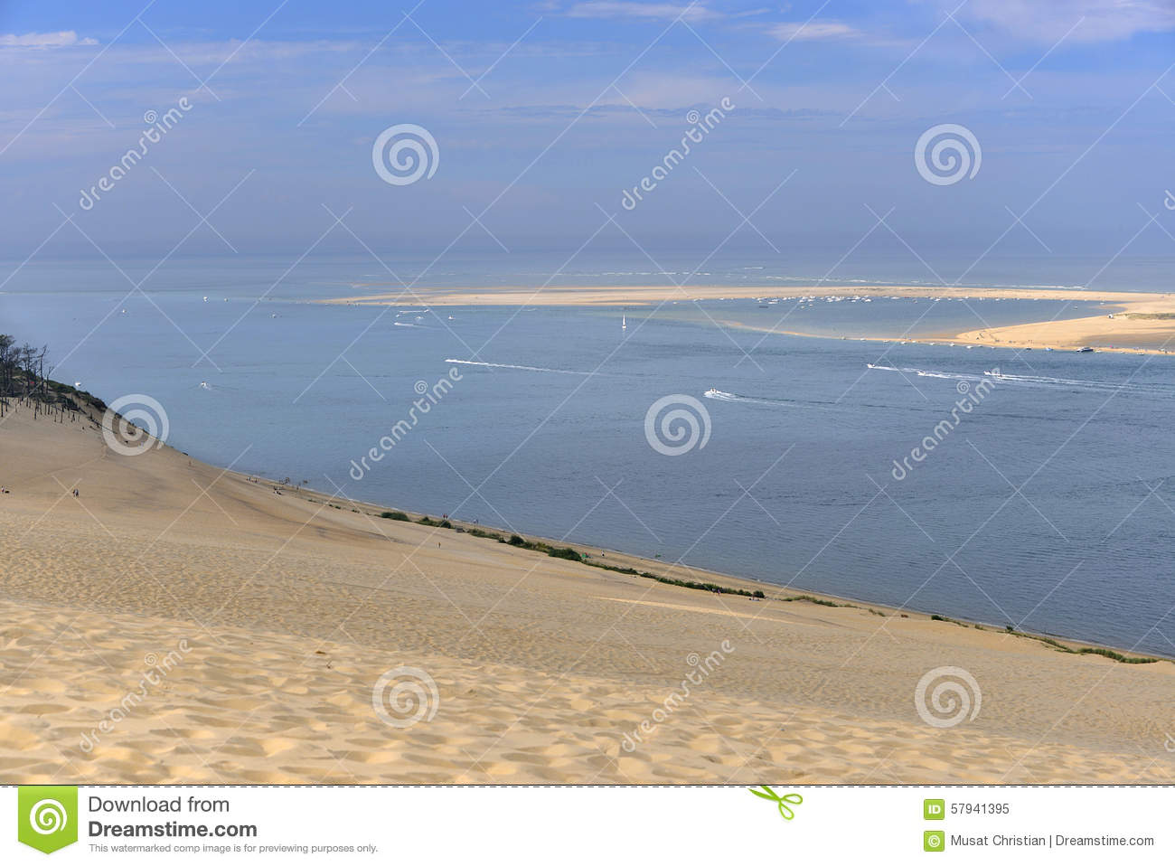 Banc Of Arguin Seen From Dune Of Pilat Stock Image Image Of
