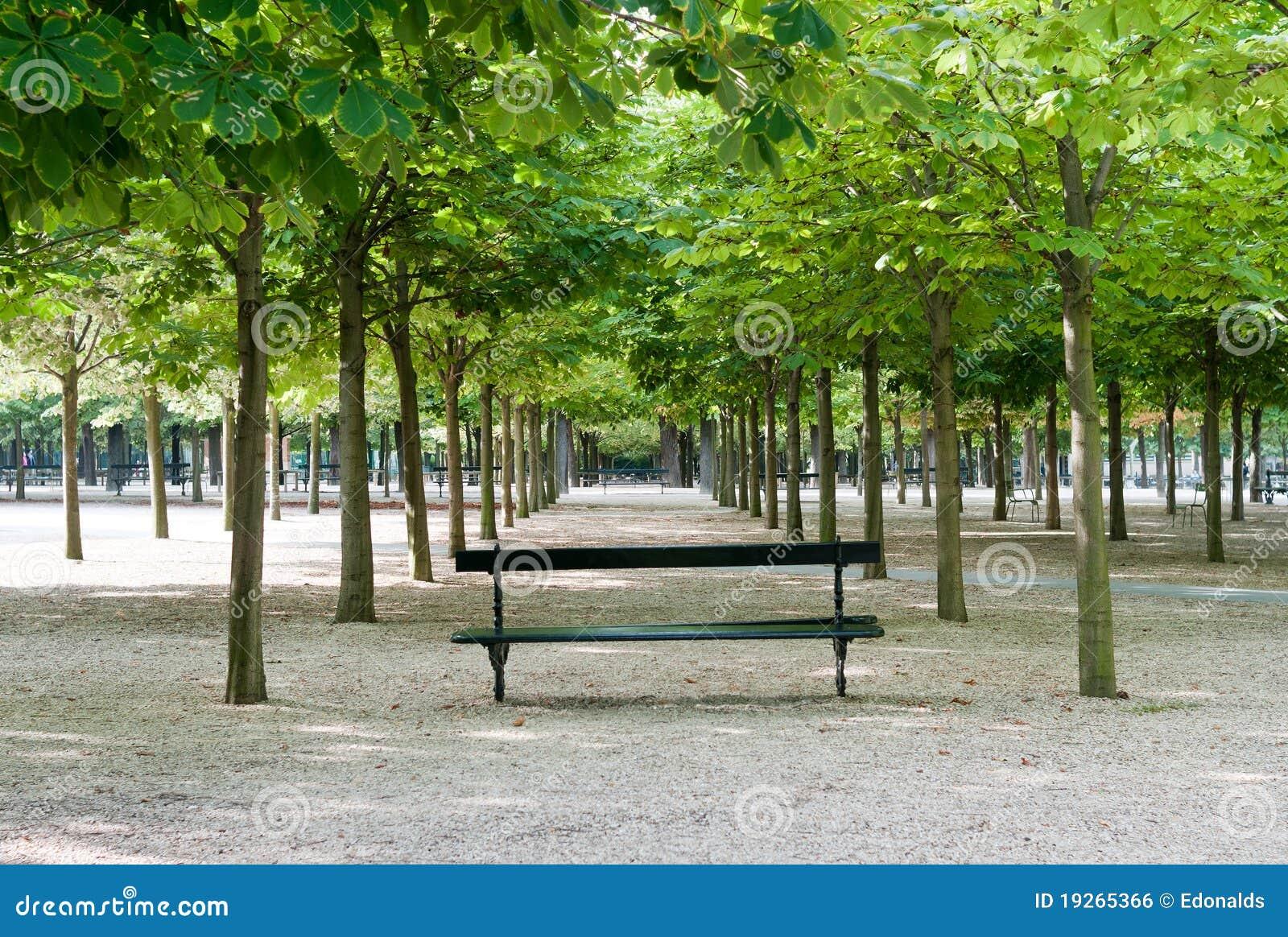 Banc aux jardins du luxembourg image libre de droits for Cafe jardin du luxembourg
