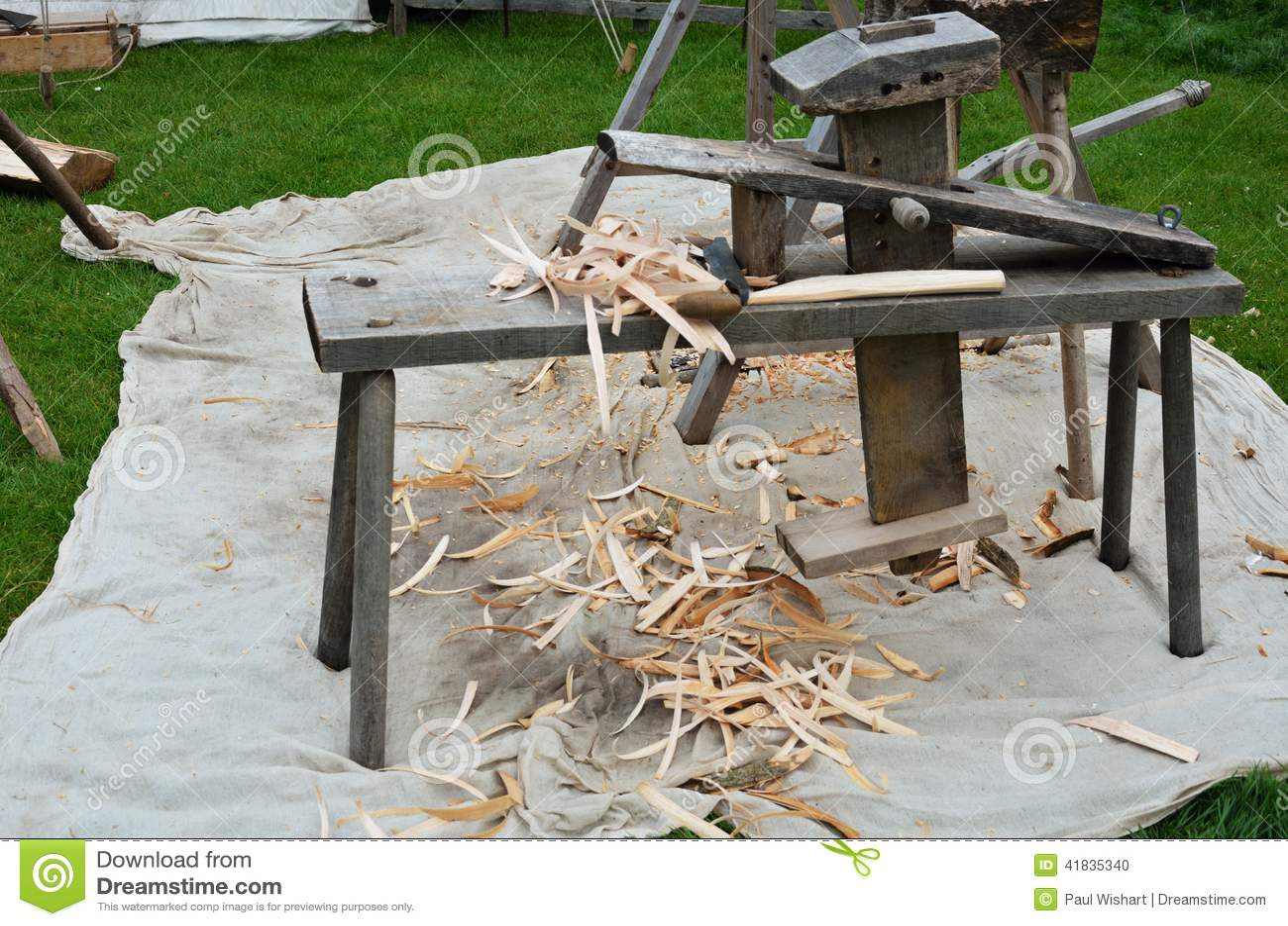Banc de charpentiers de style ancien photo stock image for Prix banc en bois