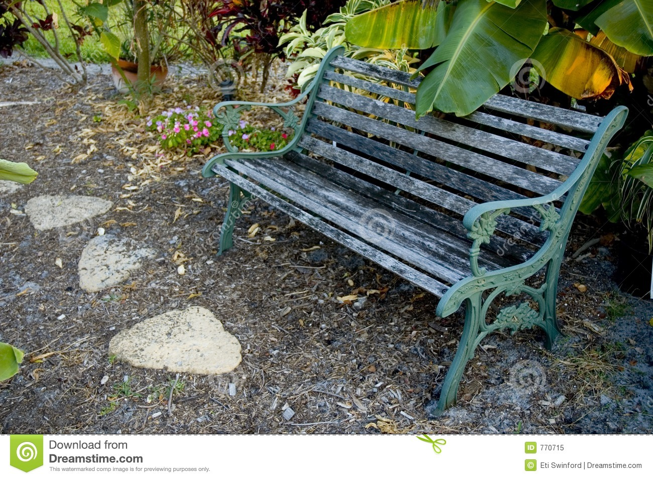 Banc de jardin photo libre de droits image 770715 for Banc en bois jardin