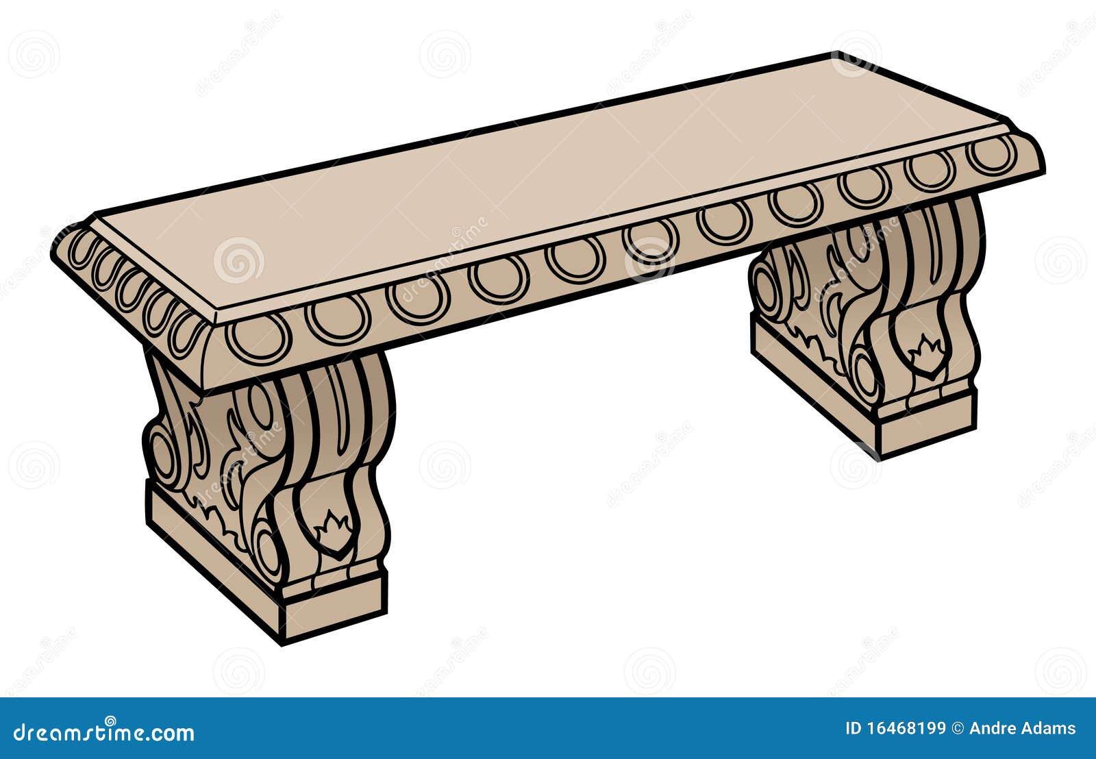 Banc En Pierre Ancien tout banc du grec ancien illustration stock. image du course - 16468199