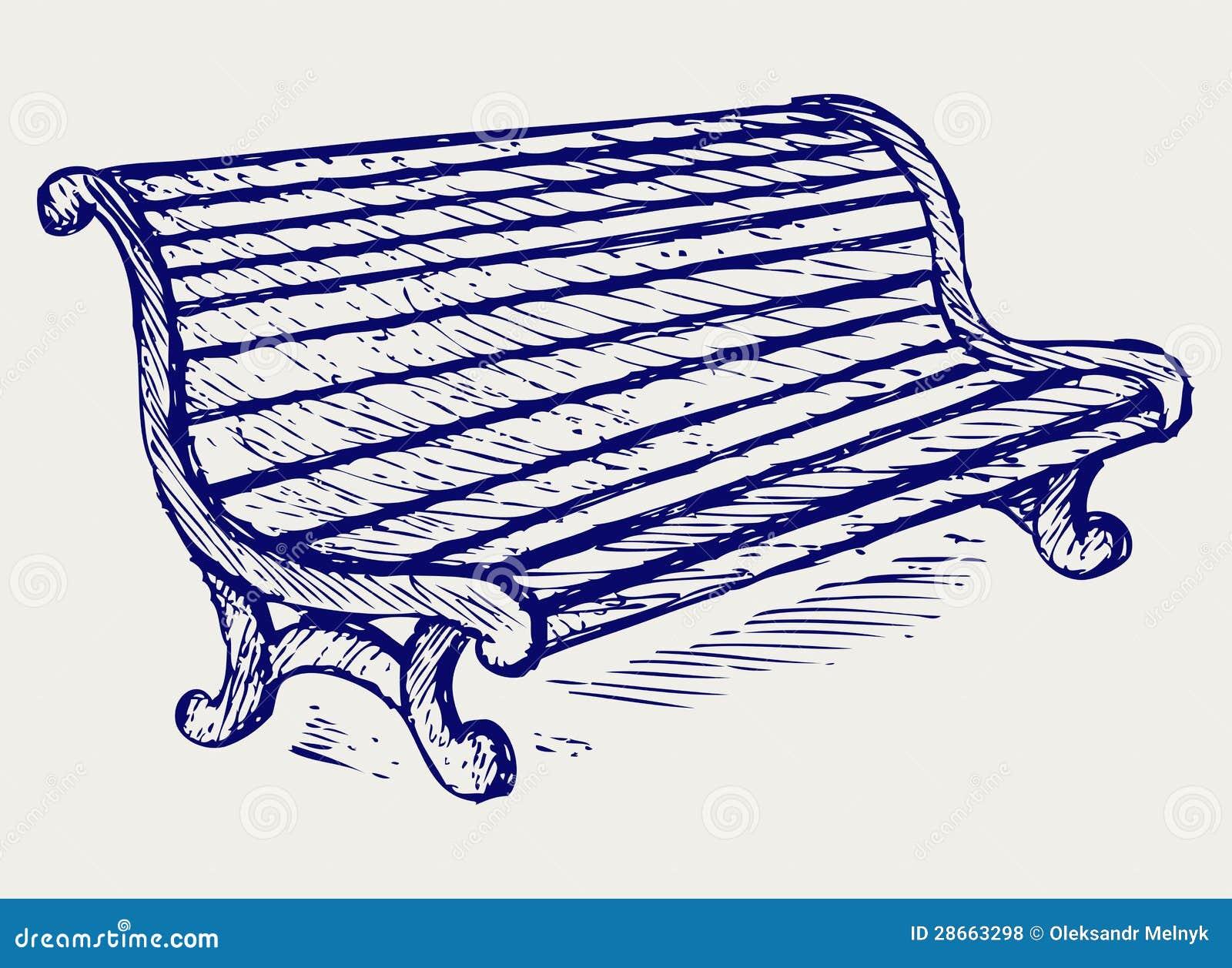 Banc En Bois Illustration De Vecteur Illustration Du Griffonnage  # Achat Bancs Droits Bois