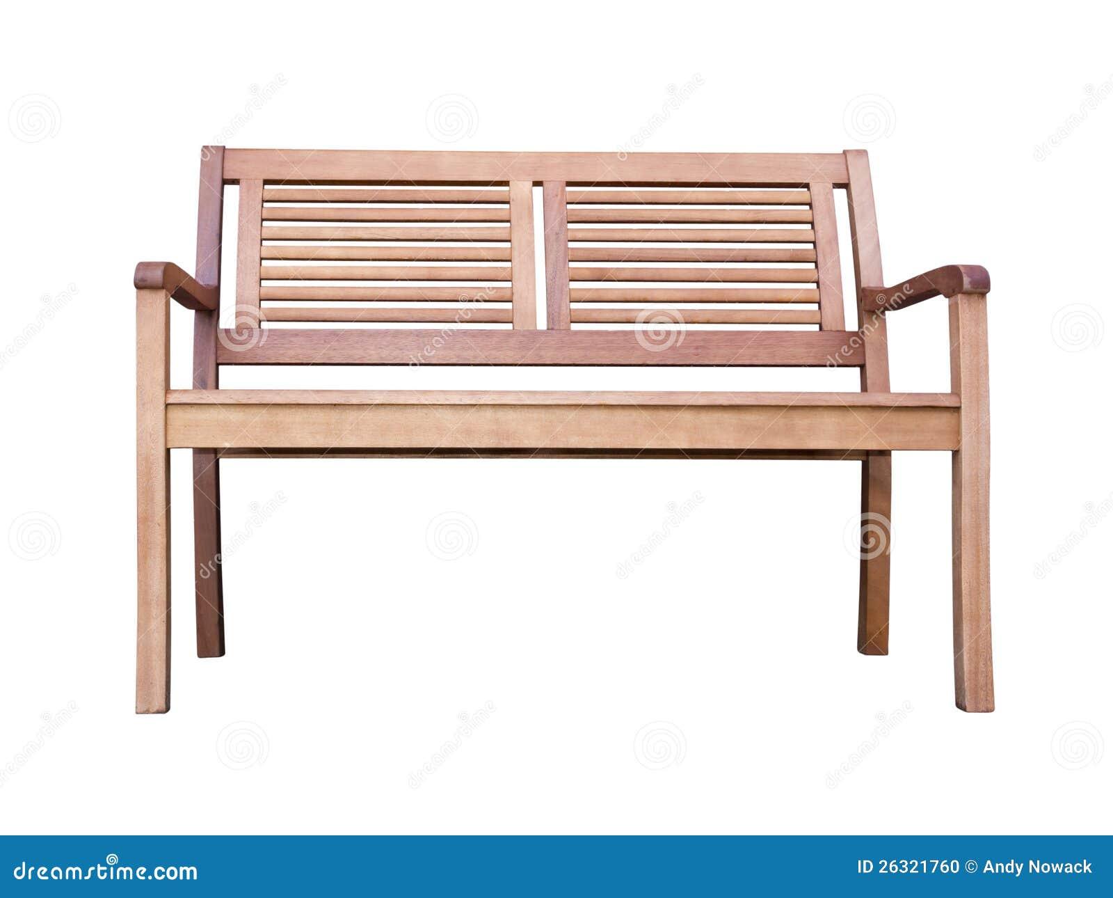 banc en bois d 39 isolement photo stock image du bench 26321760. Black Bedroom Furniture Sets. Home Design Ideas