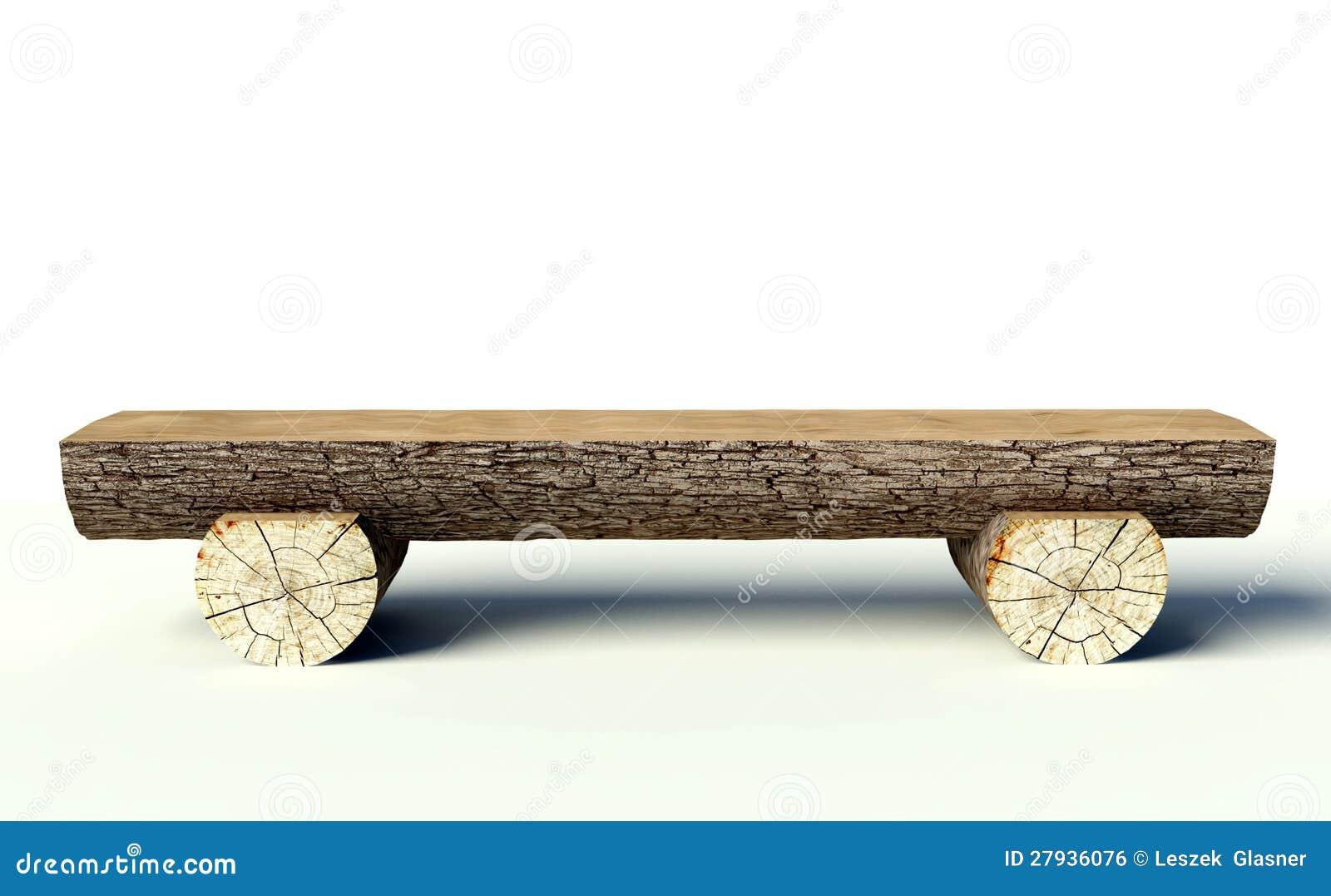 Banc En Bois Fait De Joncteurs R Seau D Arbre Illustration Stock  # Achat Bancs Droits Bois
