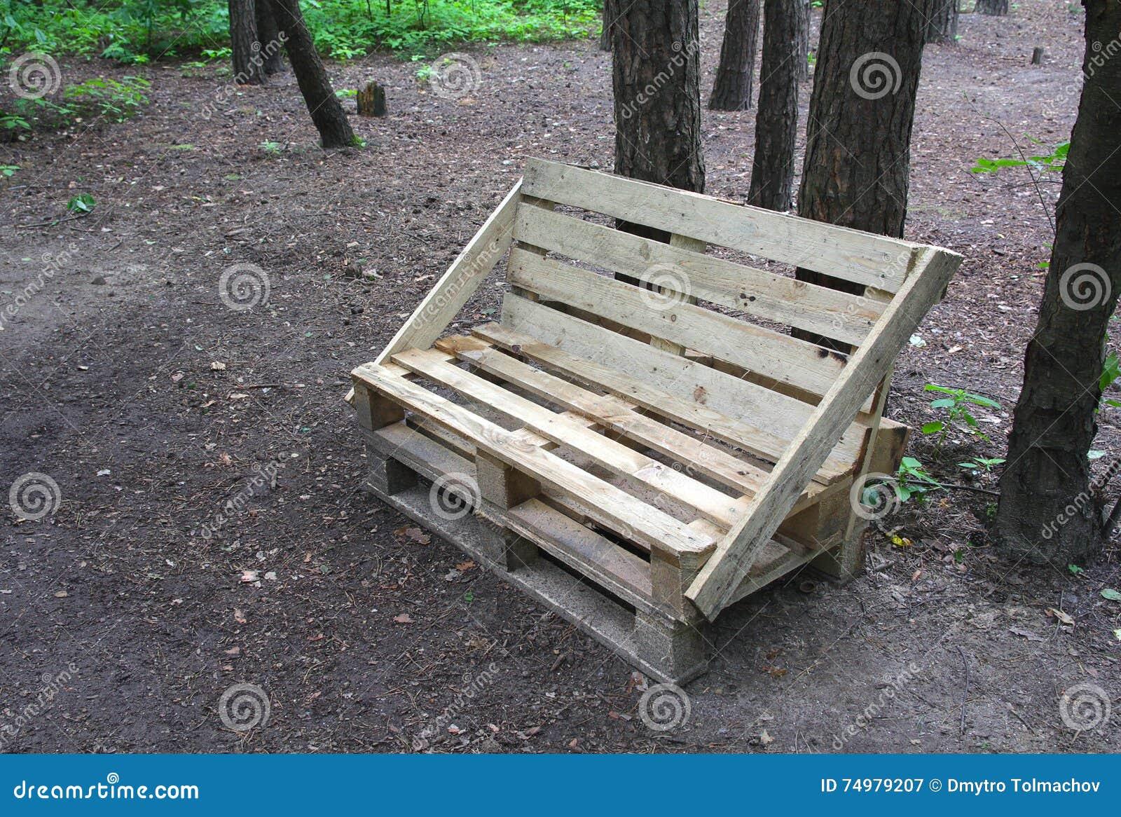 Banc Fait De Palettes En Bois Image Stock Image Du Homemade  # Achat Bancs Droits Bois
