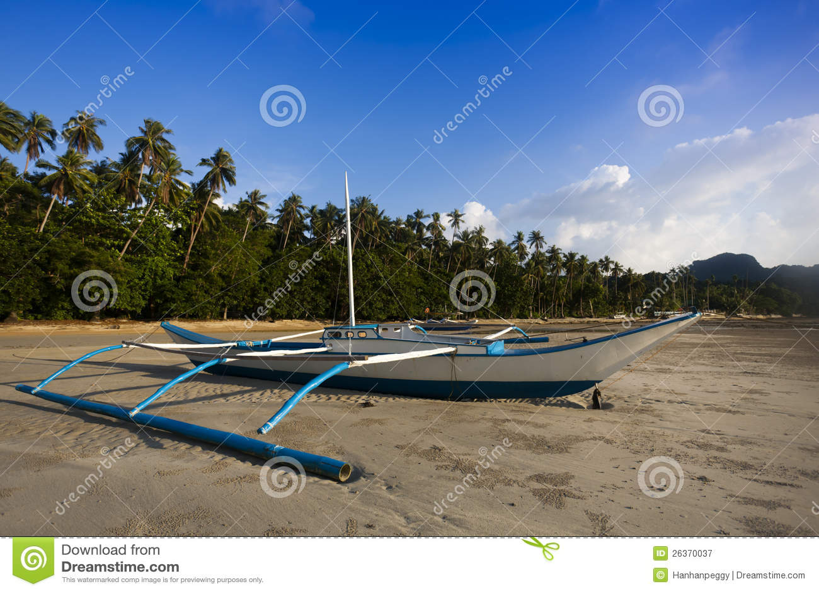 Banca Boot auf dem Strand