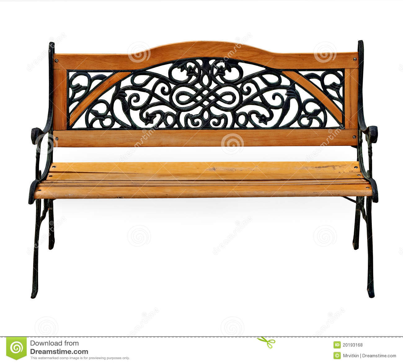 banco de jardim em ferro fundido : banco de jardim em ferro fundido:Fotos de Stock Royalty Free: Banco à moda do ferro fundido do jardim