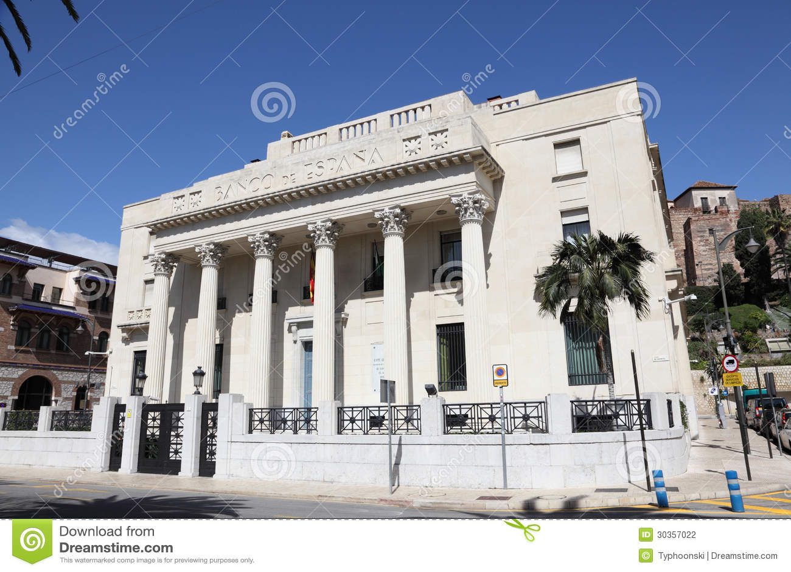 Banco da Espanha em Malaga, Espanha