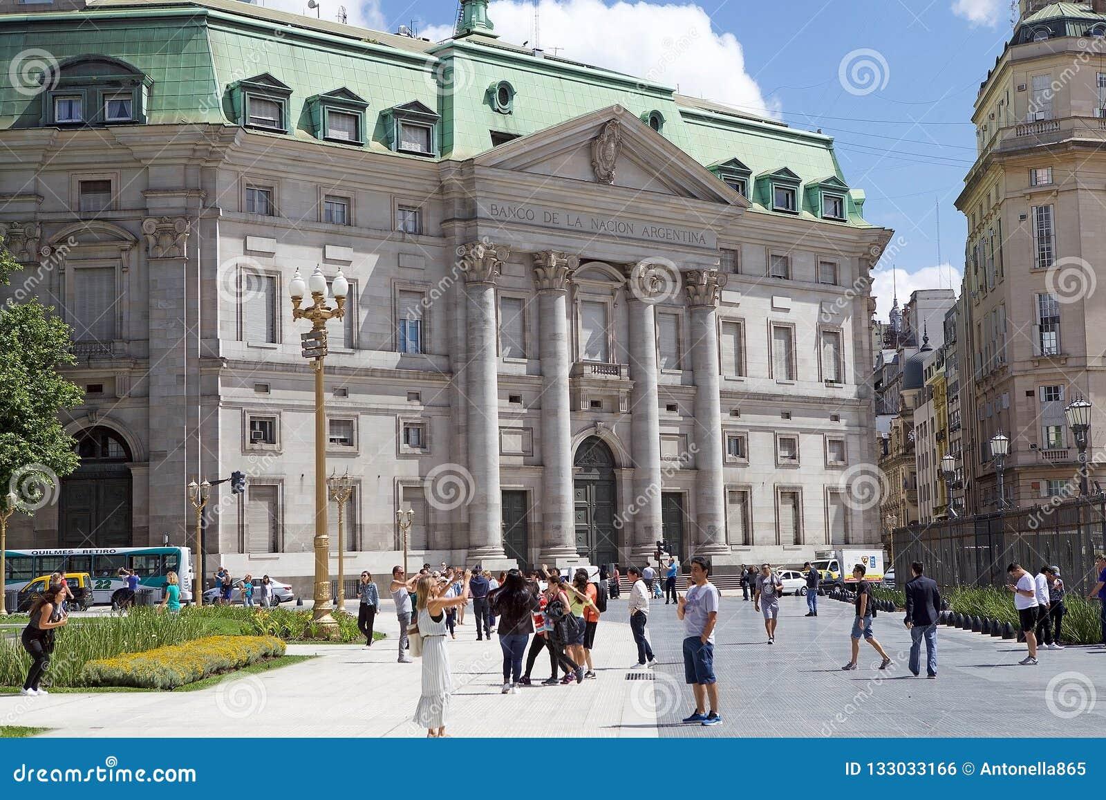 Banco de la nación de Argentina en Buenos Aires, la Argentina