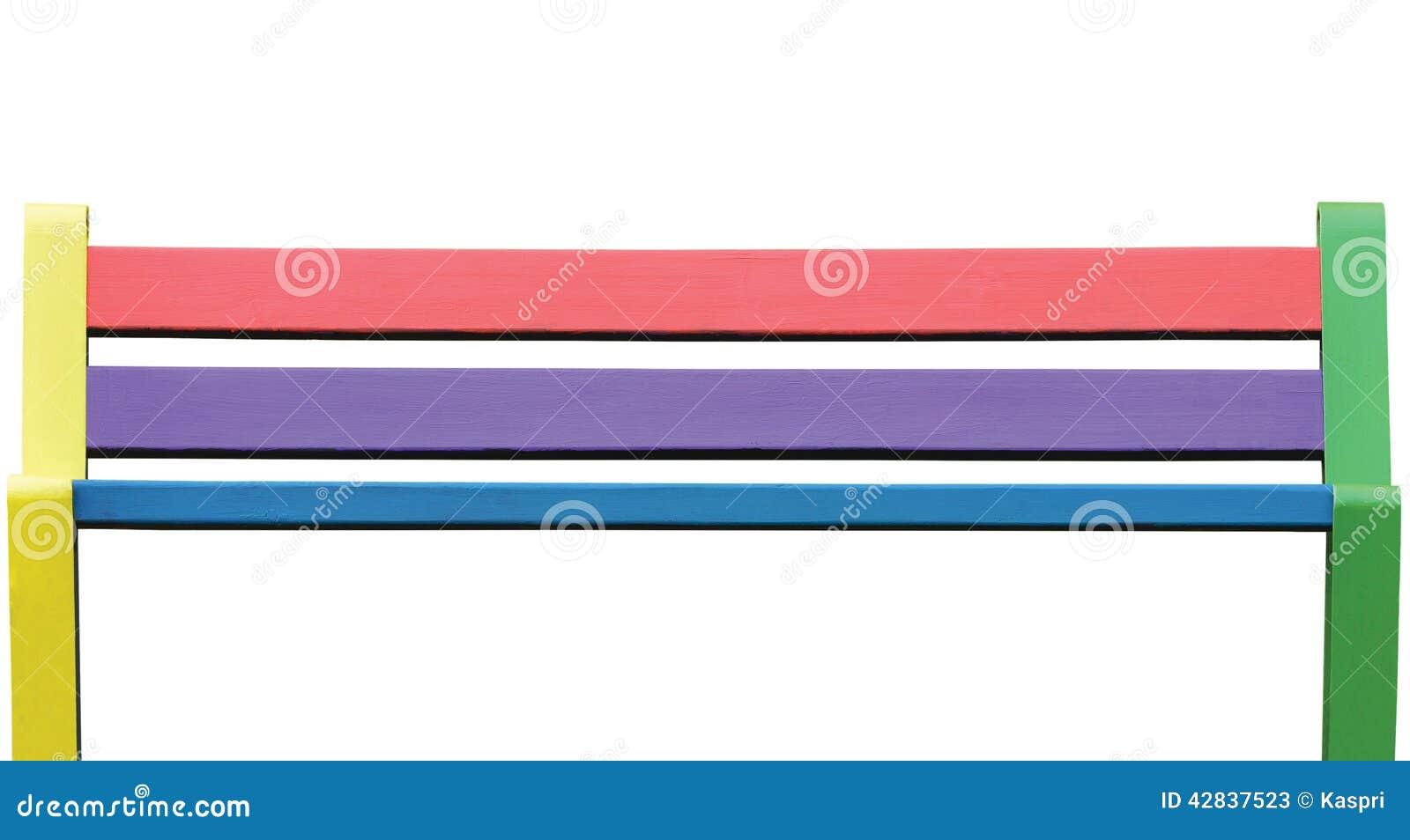 Banco De Madeira Colorido Grande Close Up Isolado Do Assento Pintado  #B9121B 1300x792