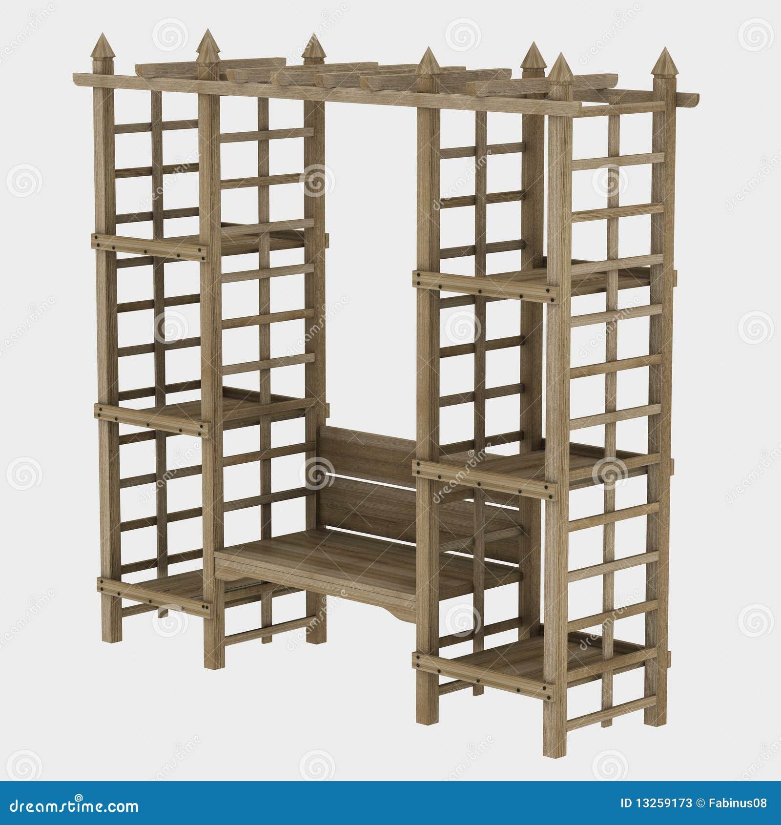 de madeira do jardim com tampa de frame arqueada anexada e caixa para  #82A328 1300x1390