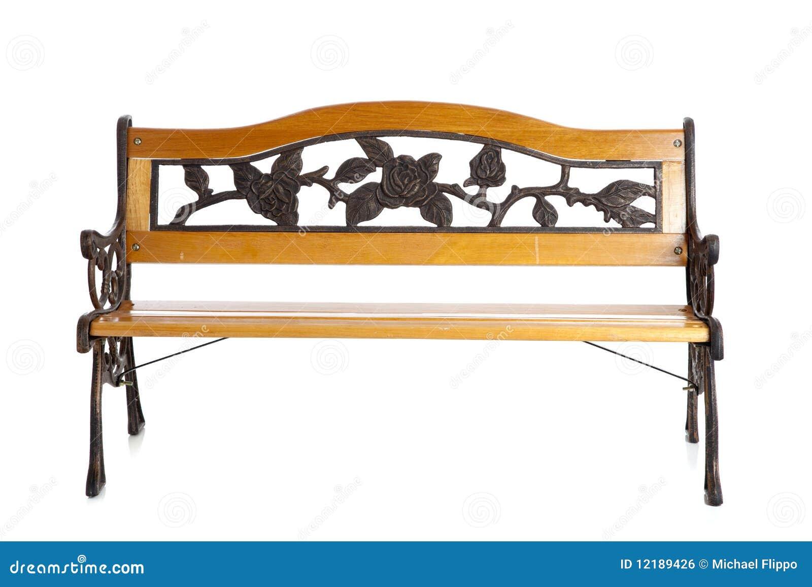 Banco de parque de madera en blanco imagen de archivo libre de regal as imagen 12189426 - Banco de madera blanco ...