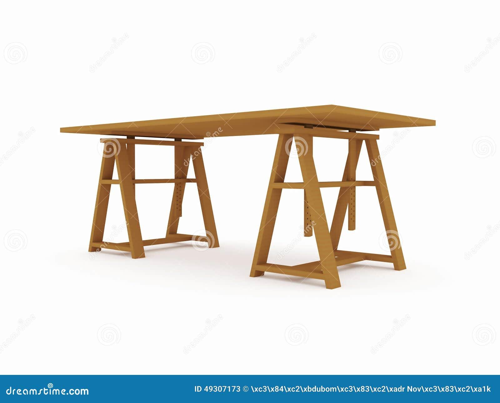 Banco de trabajo de madera aislado en blanco stock de ilustraci n imagen 49307173 - Banco de madera blanco ...