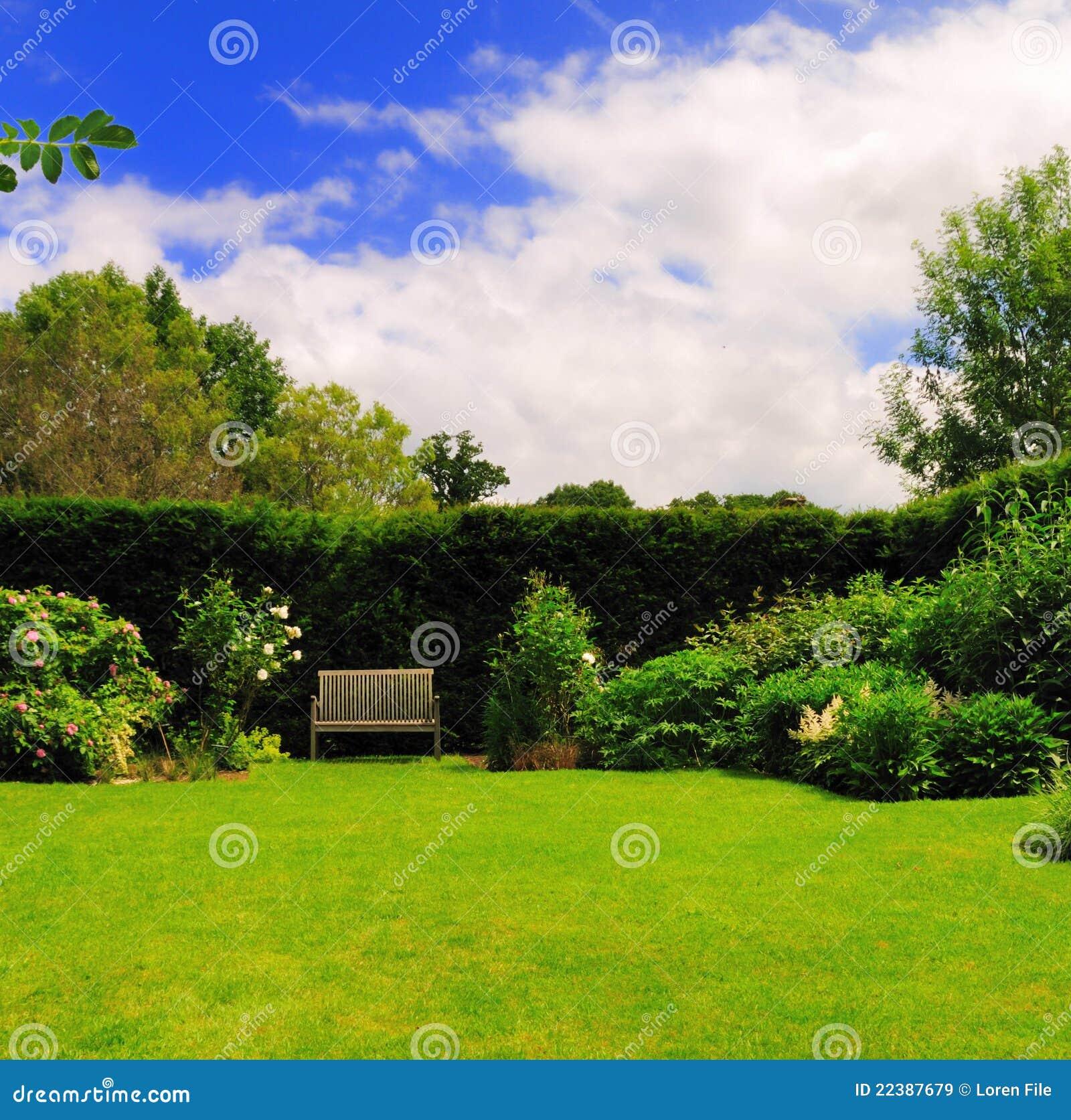 Banco del jardín