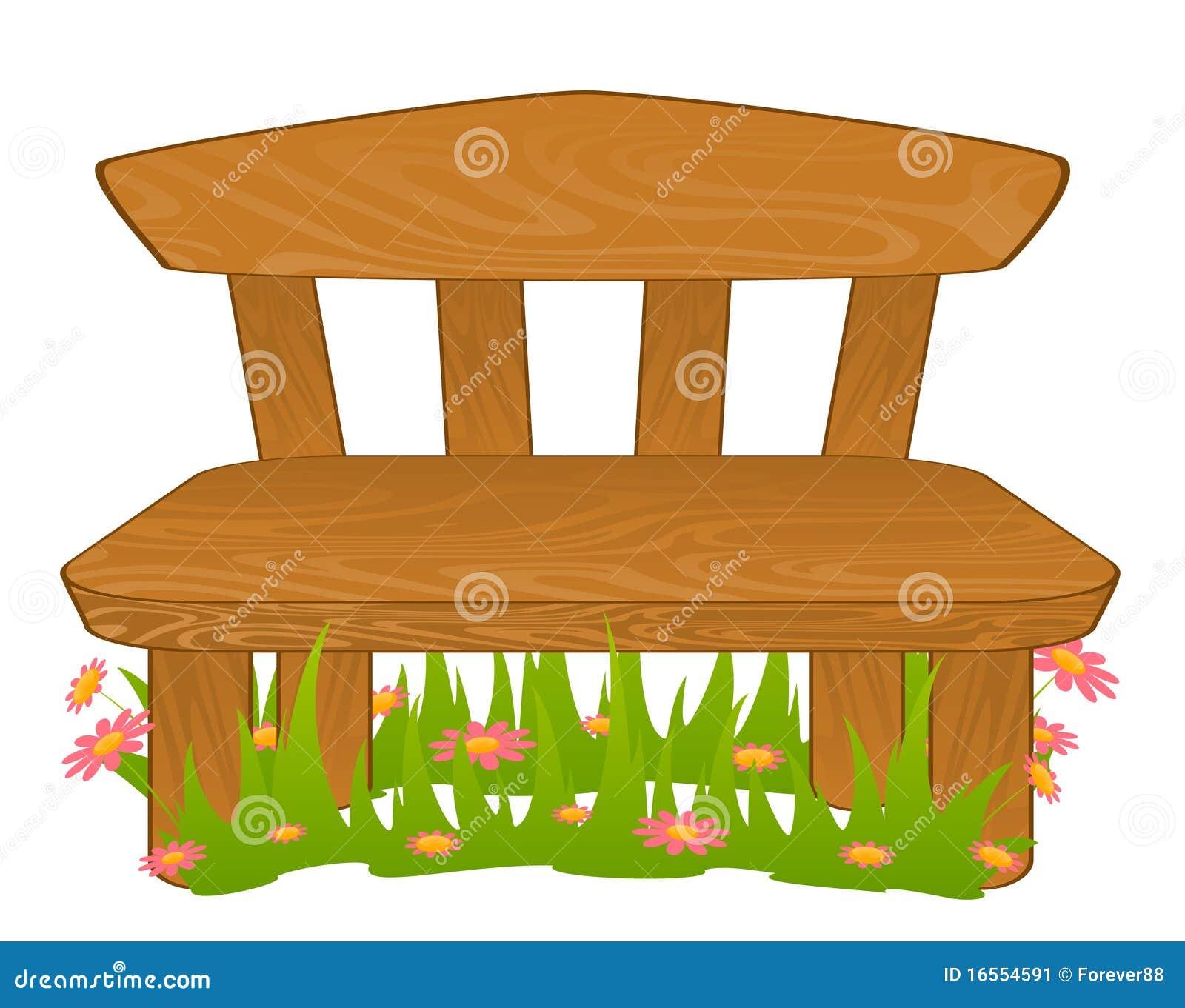 Banco dos desenhos animados ilustra o do vetor for Banco de plastico para jardin