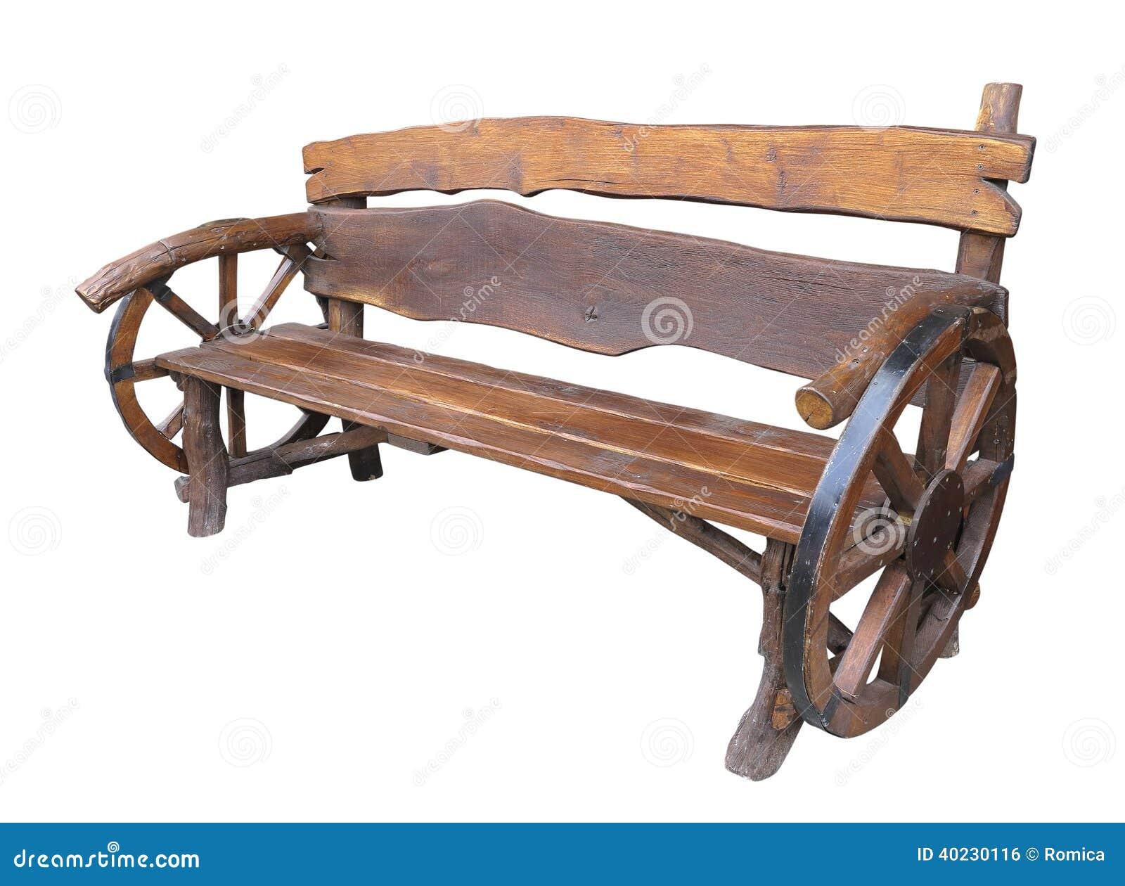 Banco feito a mão de madeira do jardim com a decoração da roda do  #82A328 1300x1040