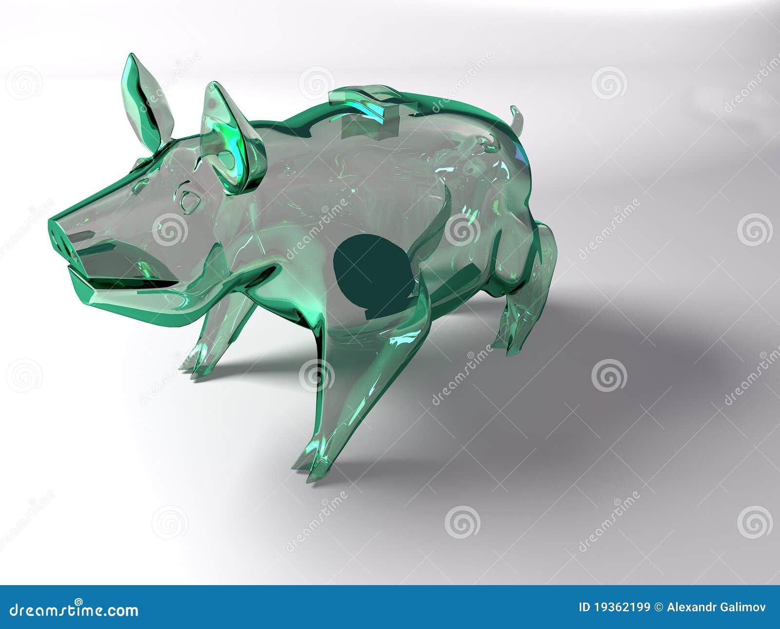 Banco piggy 3d do porco