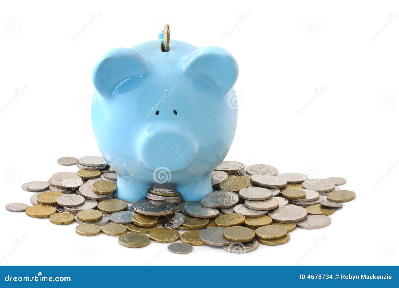 Banco Piggy sobrecarregado