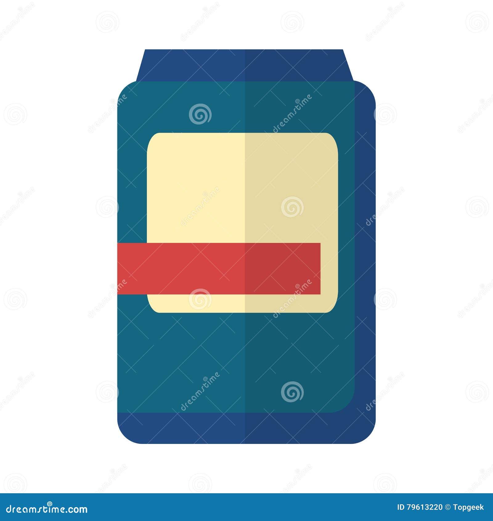 Banco plástico azul com etiqueta Branco-vermelha